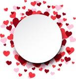 El fondo de la tarjeta del día de San Valentín con los corazones rosados libre illustration