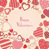 El fondo de la tarjeta del día de San Valentín del vector del vintage Imagenes de archivo