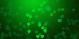 El fondo de las luces de la falta de definición que brillaba intensamente verde y de-enfocó el papel pintado del fondo de las luc stock de ilustración