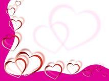 El fondo de los corazones muestra el amor Desire And Pink Fotografía de archivo