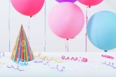 El fondo de los globos para el cumpleaños Fotos de archivo