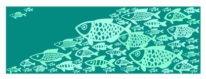 El fondo de los pescados en el agua Imágenes de archivo libres de regalías