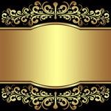 El fondo de lujo adornó las fronteras reales de oro. Imagen de archivo
