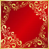 El fondo de lujo adornó un marco del oro. Imagen de archivo libre de regalías