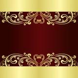 El fondo de lujo adornó un ornamento del oro Imagenes de archivo
