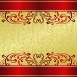 El fondo de lujo adornó un ornamento del vintage. Imagen de archivo