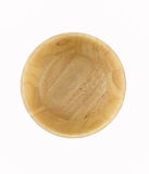 El fondo de madera del cuenco aislado en el blanco para usted diseña Imágenes de archivo libres de regalías