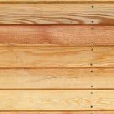 El fondo de madera del panel del tablón adornó la pared Imagen de archivo libre de regalías