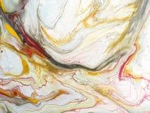 El fondo de multicolor salpica de la pintura Fragmento de las ilustraciones stock de ilustración