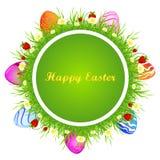 Tarjeta de felicitación de Pascua de la plantilla Imagen de archivo