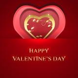 El fondo del día de tarjetas del día de San Valentín con oro oye libre illustration