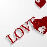 El fondo del día de tarjetas del día de San Valentín con oye stock de ilustración