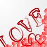 El fondo del día de tarjetas del día de San Valentín con oye ilustración del vector