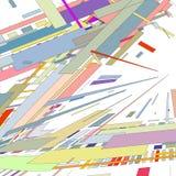 El fondo del extracto 3 D se compone de formas geométricas coloridas ilustración del vector