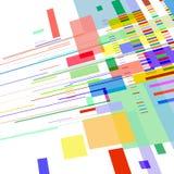 El fondo del extracto 3 D se compone de líneas coloridas y de formas geométricas stock de ilustración