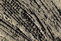 El fondo del fango de la pisada del neumático Fotos de archivo libres de regalías