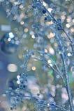 El fondo del invierno con hielo adornó ramas Imágenes de archivo libres de regalías