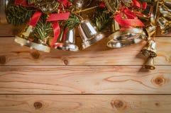 El fondo del marco de la Navidad con adorna el objeto Imagenes de archivo