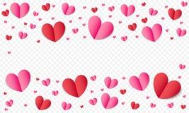 El fondo del modelo de los corazones para el día de tarjetas del día de San Valentín o el romance de la boda y ahorra la plantill Fotografía de archivo