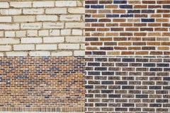 El fondo del mortero del ladrillo colorea el collage Imagen de archivo libre de regalías