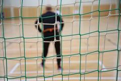 El fondo del portero futsal Foto de archivo