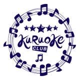 El fondo del vector del club del Karaoke compuesto con las notas musicales circulares cubre Puede ser utilizado como concepto del ilustración del vector