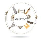 El fondo del World Travel, texto puede ser añadido Fotografía de archivo
