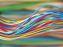 El fondo eléctrico del alambre Foto de archivo