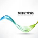 El fondo, el azul y el verde abstractos de la onda del vector agitaron las líneas para el folleto del diseño, sitio web stock de ilustración