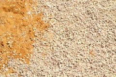 El fondo es arena y escombros Foto de archivo