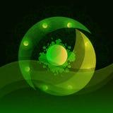El fondo es un icono verde hermoso de la abstracción Imagen de archivo libre de regalías