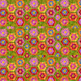 El fondo floral de los niños alegres Imagen de archivo