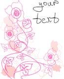 El fondo floral en un vector Fotografía de archivo libre de regalías