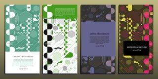 El fondo geométrico abstracto de hexágonos, las líneas, las rayas y los óvalos en diversas aplicaciones vector EPS 10 Fotos de archivo libres de regalías