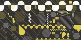 El fondo geométrico abstracto de hexágonos, las líneas, las rayas y los óvalos vector EPS 10 Imagen de archivo