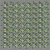 El fondo gris con las margaritas blancas y el verde se va en gris Imagen de archivo libre de regalías