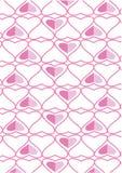 El fondo hecho de corazones Imágenes de archivo libres de regalías