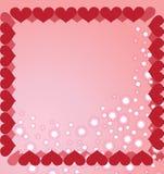 El fondo hecho de los corazones   Imágenes de archivo libres de regalías
