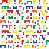 El fondo inconsútil colorido forma similar al juego de Tetris Imágenes de archivo libres de regalías