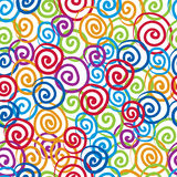 El fondo inconsútil de los rizos, vector el modelo inconsútil, colorido Fotografía de archivo libre de regalías