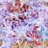 El fondo inconsútil floral del modelo de la castaña de la acuarela se va Imágenes de archivo libres de regalías