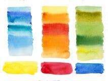El fondo limpiado de alta resolución de las columnas abstractas de las formas de la acuarela aisló fácil de utilizar imagen de archivo libre de regalías