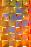 El fondo metálico abstracto adornó la iluminación de Coloful Fotografía de archivo libre de regalías