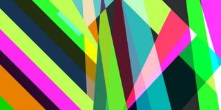 El fondo multicolor geométrico abstracto de líneas y las rayas vector EPS 10 Fotografía de archivo libre de regalías
