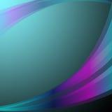 El fondo ondulado muestra a Art Or Turquoise Wallpaper abstracto Fotografía de archivo libre de regalías