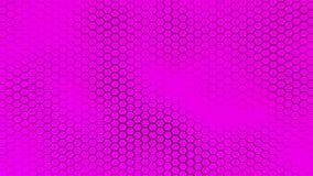 El fondo púrpura hermoso del hexagrid con el mar suave agita Ilustración del Vector