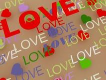 El fondo para una tarjeta del día de San Valentín Imágenes de archivo libres de regalías