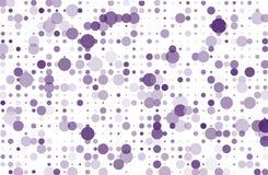 El fondo punteado con los círculos, puntos, señala diverso tamaño, escala Ejemplo de semitono violeta, color púrpura del vector d Imagenes de archivo