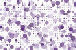 El fondo punteado con los círculos, puntos, señala diverso tamaño, escala Ejemplo de semitono violeta, color púrpura del vector d Foto de archivo libre de regalías