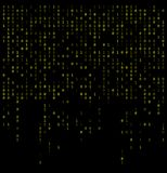 El fondo que cae de los dígitos binarios, resume el papel pintado 0,1 ilustración del vector